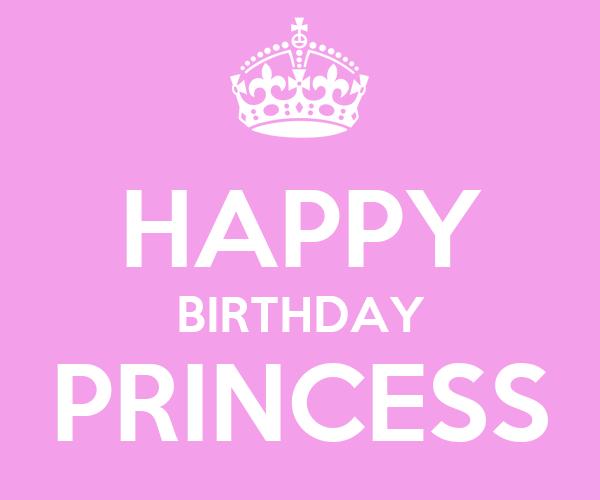 HAPPY BIRTHDAY PRINCESS Poster