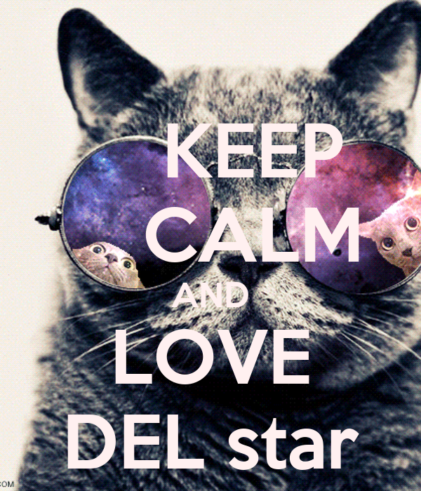 KEEP     CALM AND LOVE DEL star