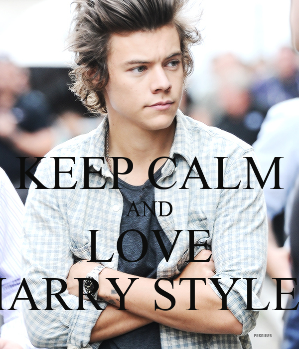 keep calm and love harry styles poster billybob keep
