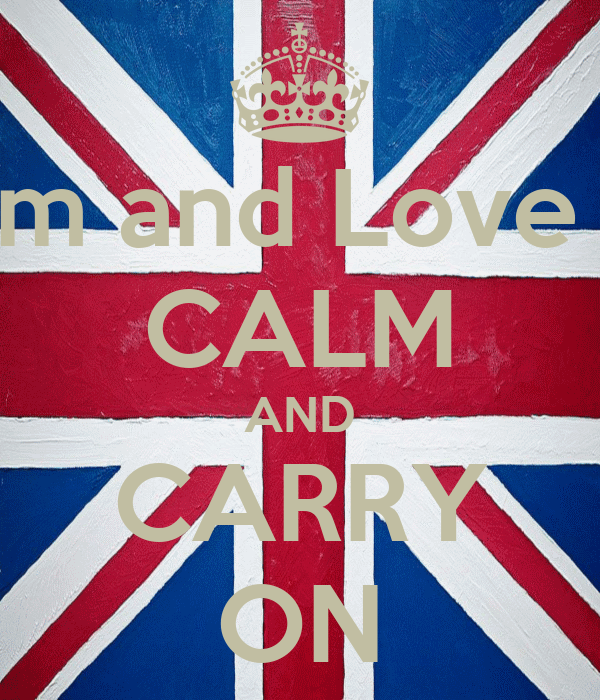 Keep Calm and Love Thembani CALM AND CARRY ON