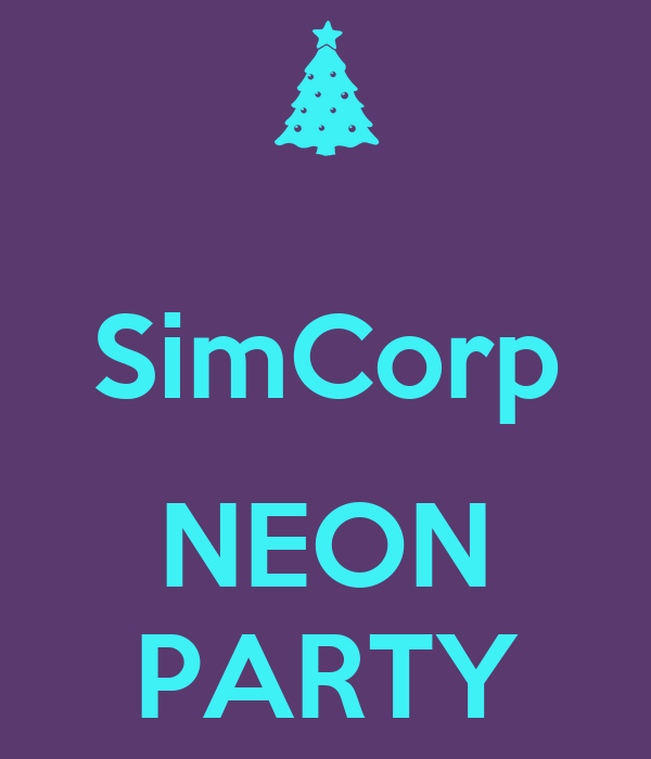SimCorp  NEON PARTY