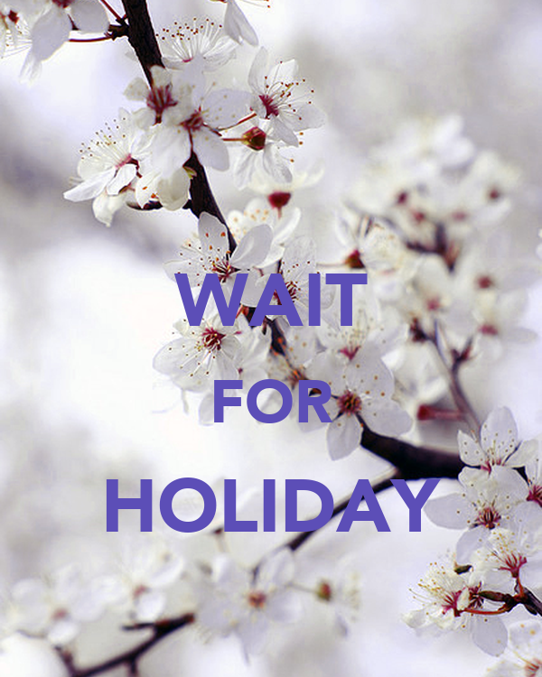 WAIT FOR HOLIDAY