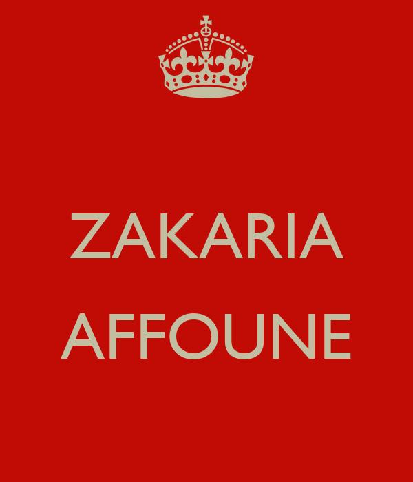ZAKARIA  AFFOUNE