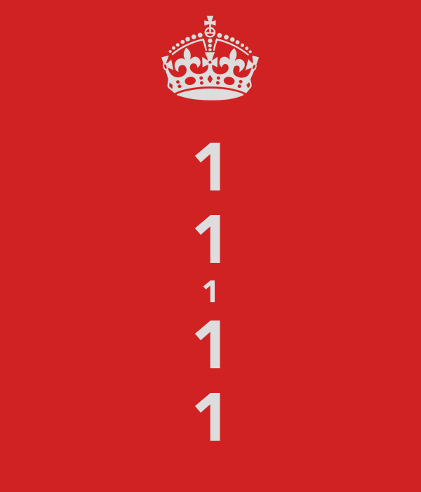 1 1 1 1 1
