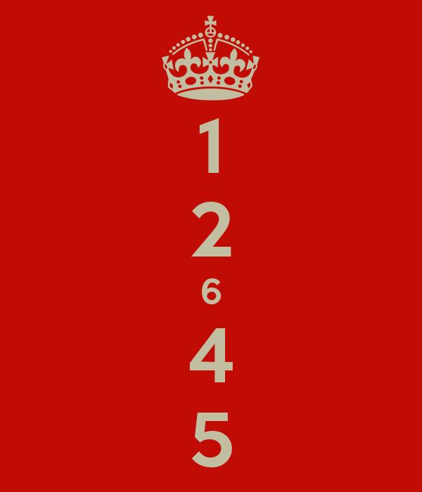 1 2 6 4 5