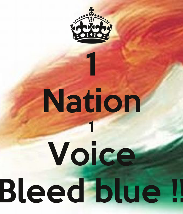 1 Nation 1 Voice Bleed blue !!