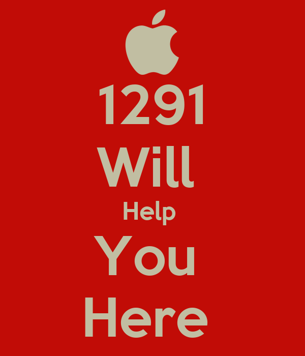 1291 Will  Help  You  Here
