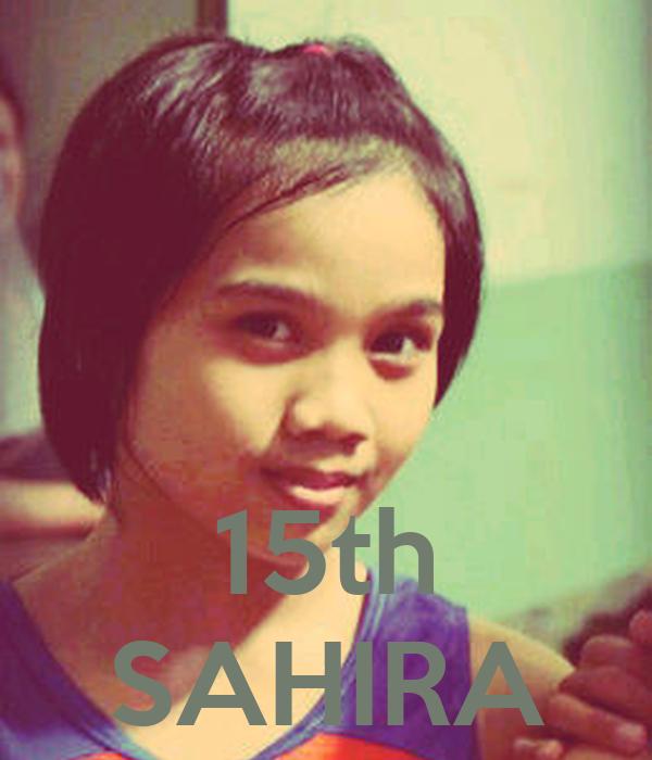 15th SAHIRA