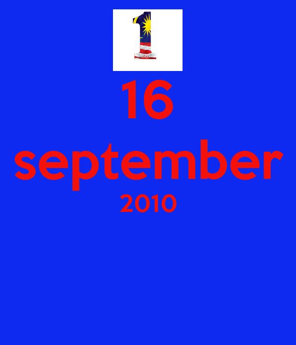 16 september 2010