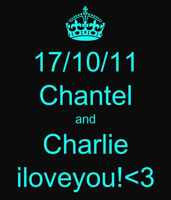 17/10/11 Chantel and Charlie iloveyou!<3