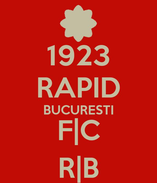 1923 RAPID BUCURESTI F|C R|B