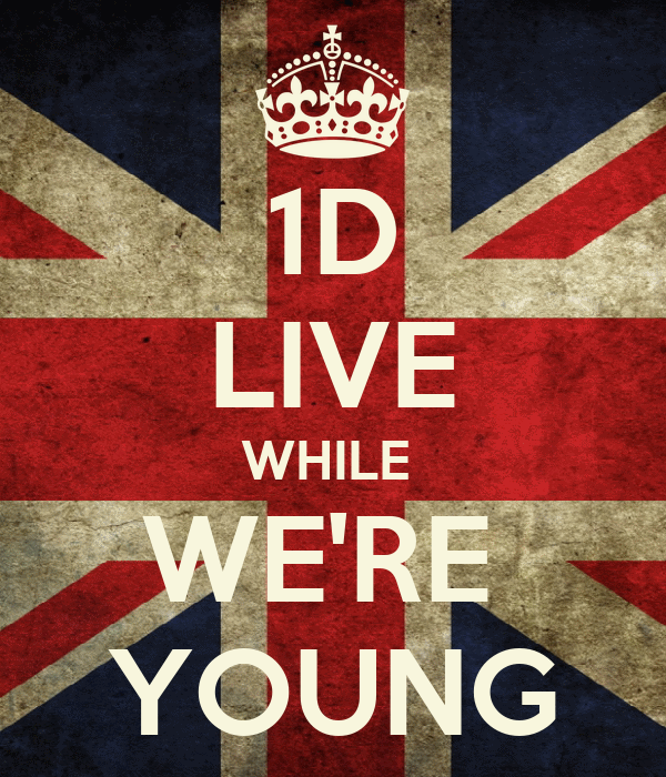 1D LIVE WHILE  WE'RE  YOUNG