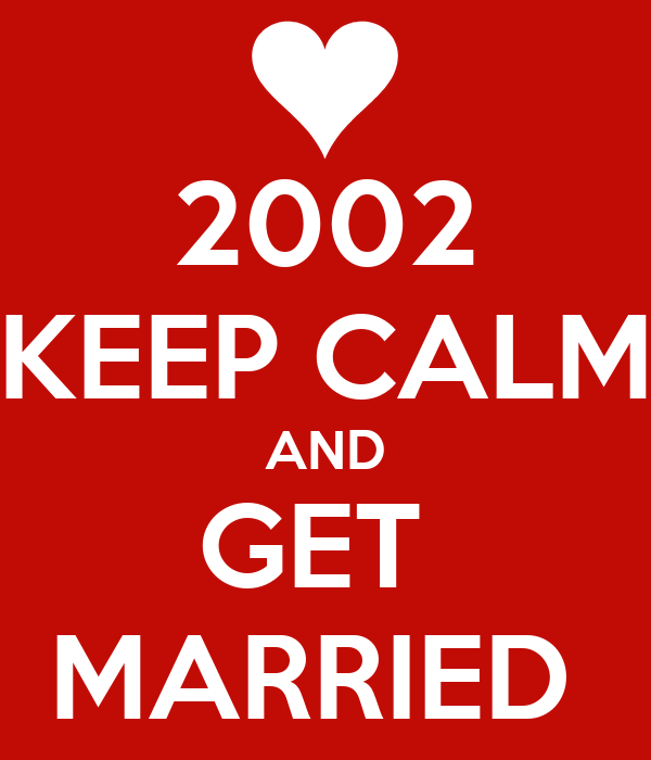 2002 KEEP CALM AND GET  MARRIED