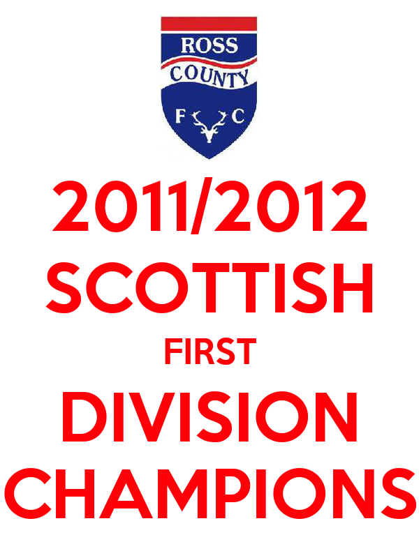 2011/2012 SCOTTISH FIRST DIVISION CHAMPIONS