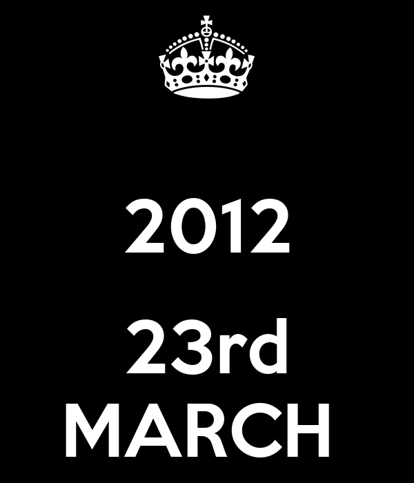 2012  23rd MARCH