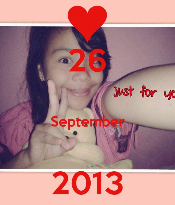26  September  2013