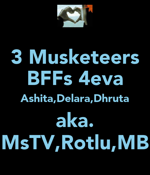3 Musketeers BFFs 4eva Ashita,Delara,Dhruta aka. MsTV,Rotlu,MB