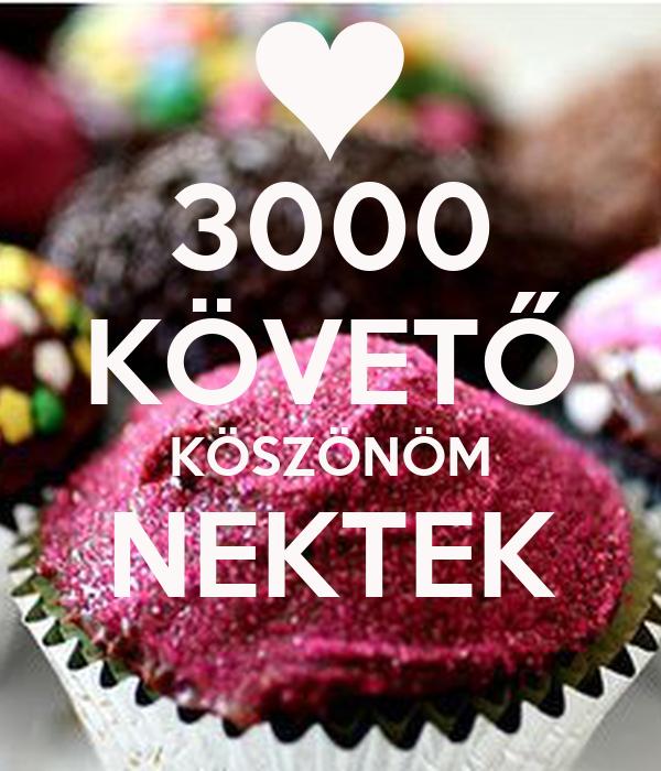 3000 KÖVETŐ KÖSZÖNÖM NEKTEK