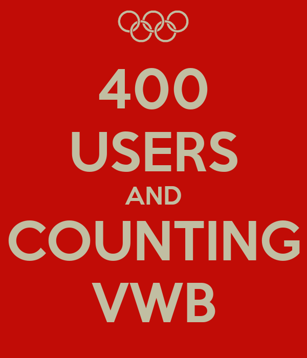 400 USERS AND COUNTING VWB