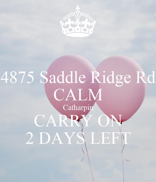 4875 Saddle Ridge Rd CALM Catharpin CARRY ON 2 DAYS LEFT