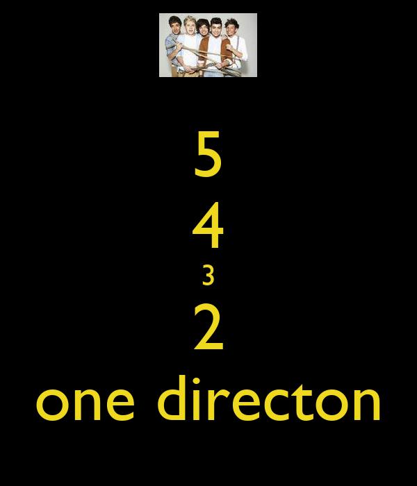 5 4 3 2 one directon