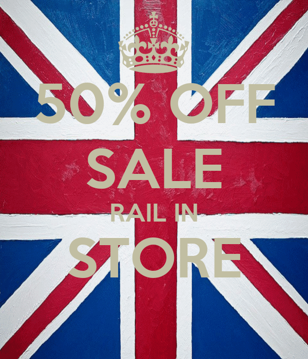 50% OFF SALE RAIL IN STORE