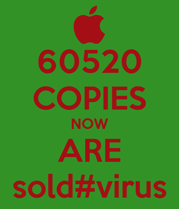60520 COPIES NOW ARE sold#virus