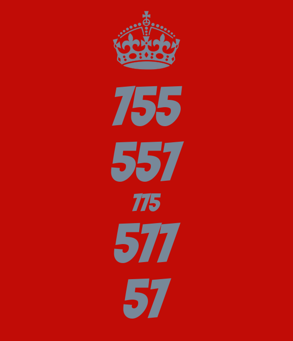 755 557 775 577 57