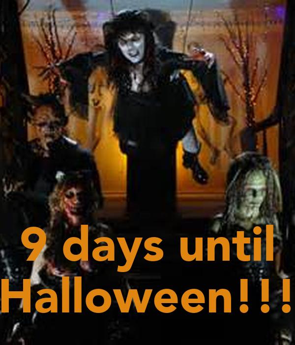 9 days until Halloween!!!