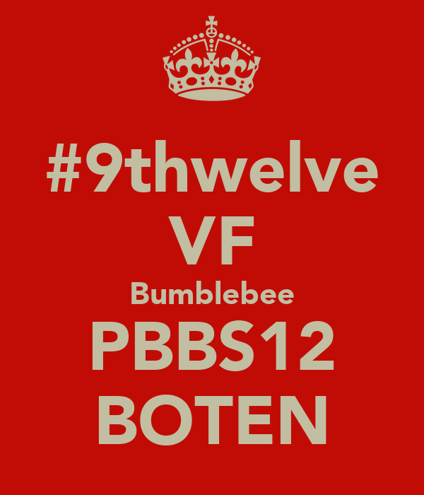 #9thwelve VF Bumblebee PBBS12 BOTEN
