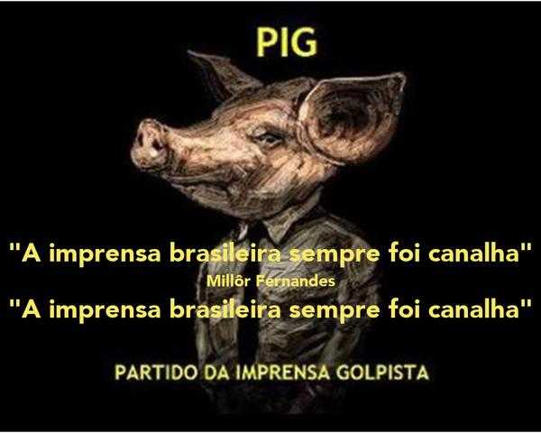 """A imprensa brasileira sempre foi canalha"" Millôr Fernandes ""A imprensa brasileira sempre foi canalha"""