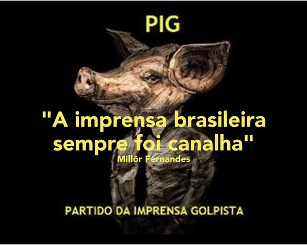"""""""A imprensa brasileira sempre foi canalha"""" Millôr Fernandes"""
