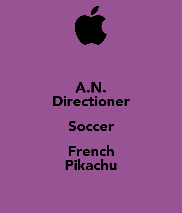 A.N. Directioner Soccer French Pikachu