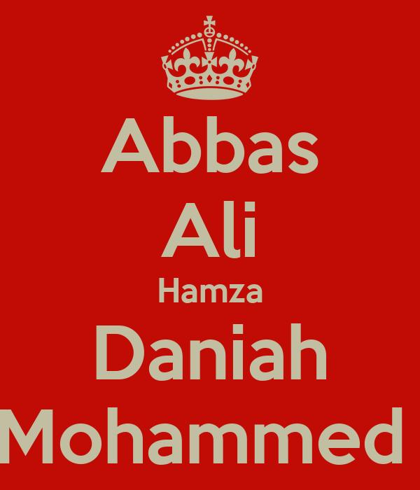 Abbas Ali Hamza Daniah Mohammed