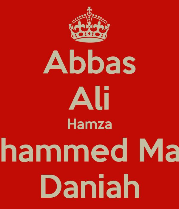 Abbas Ali Hamza Mohammed Mahdi Daniah