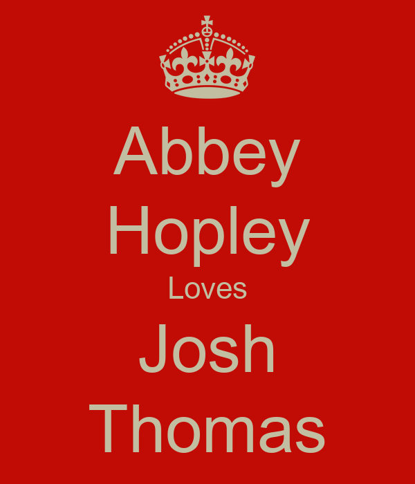 Abbey Hopley Loves Josh Thomas