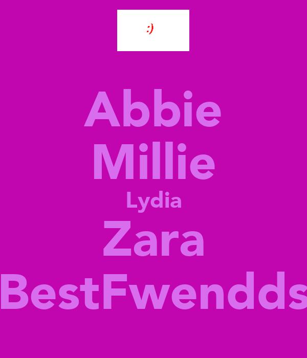 Abbie Millie Lydia Zara BestFwendds