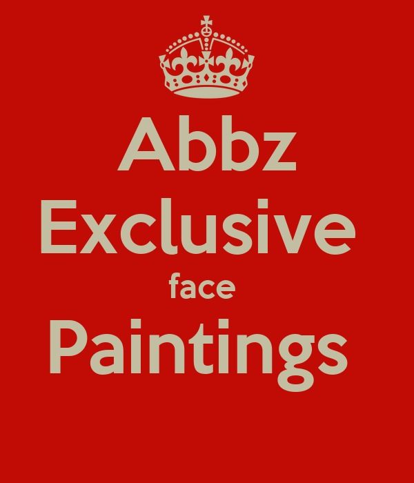 Abbz Exclusive  face  Paintings                                                       .