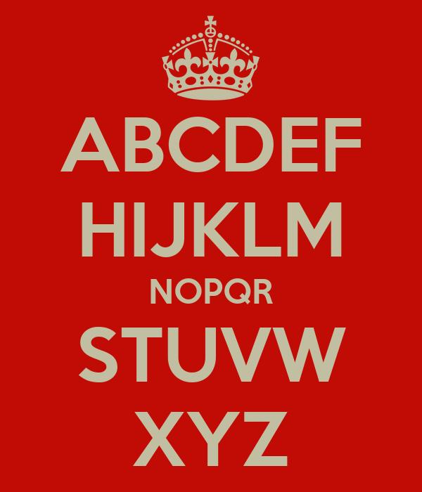 ABCDEF HIJKLM NOPQR STUVW XYZ