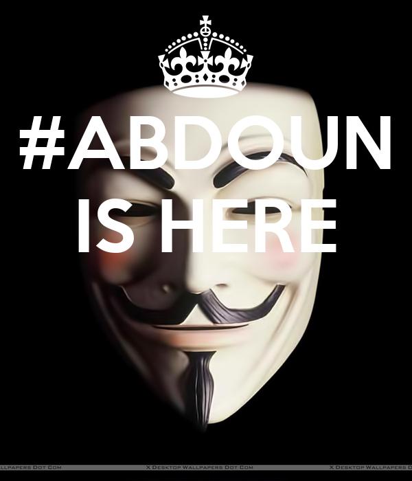 #ABDOUN IS HERE