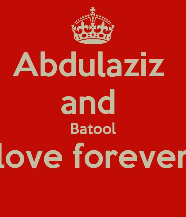 Abdulaziz  and  Batool love forever