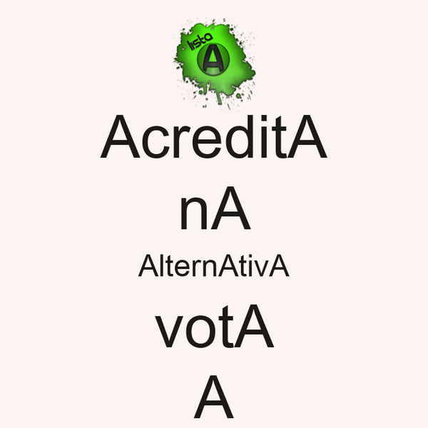 AcreditA nA AlternAtivA votA A