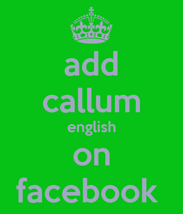 add callum english on facebook