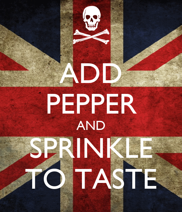 ADD PEPPER AND SPRINKLE TO TASTE