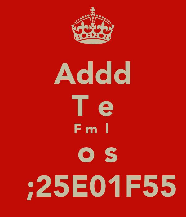 Addd Tнe Fεmɑ̲lε вoѕs ♥ ;25E01F55