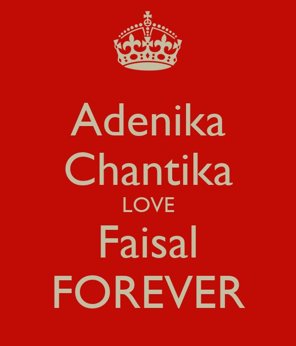 Adenika Chantika LOVE Faisal FOREVER