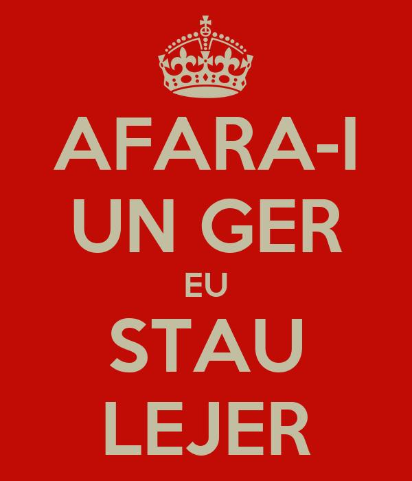AFARA-I UN GER EU STAU LEJER