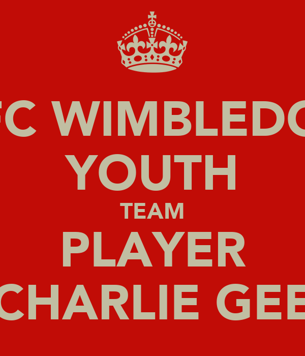 AFC WIMBLEDON YOUTH TEAM PLAYER CHARLIE GEE
