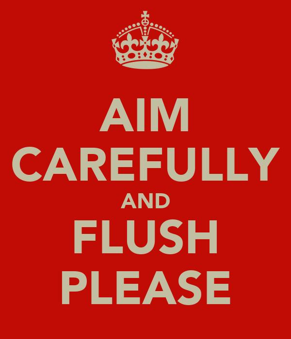 AIM CAREFULLY AND FLUSH PLEASE