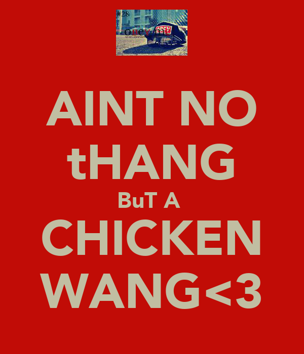 AINT NO tHANG BuT A  CHICKEN WANG<3